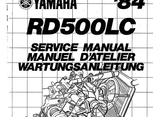 Workshop Manuals Official Workshop Manuals for the RZV500r, RZ500 and RD500.